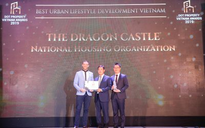 """N.H.O HONORED WITH THE """"BEST URBAN LIFESTYLE DEVELOPMENT"""" AWARD AT DOT PROPERTY VIETNAM AWARDS 2019"""
