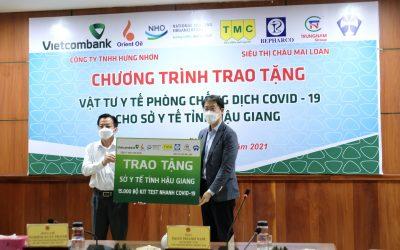 N.H.O hỗ trợ trang thiết bị y tế phòng chống dịch COVID-19 cho tỉnh Hậu Giang